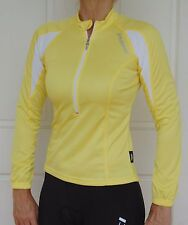 Womens Jaggad Cycling Bike Long Sleeve YELLOW Jersey Top XS 6-8 S 8 M 10 L 12