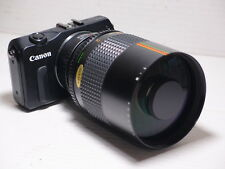 EOS M fit 500mm = 750mm ON CANON EOS M3 DIGITAL SLR MIRRORLESS CAMERA