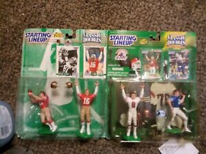 Lot of 2 NFL Starting Lineup Classic Doubles 49ers Steve Young Montana Clark