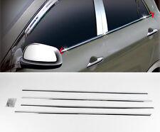 Chrome Window Line Sill Molding Trim 4p For 11 12 13 14 Kia Picanto : Morning