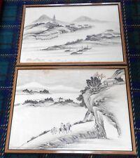 Vintage Japanese Painting Landscape
