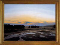 Classic Framed Caspar David Friedrich The Grosse Gehege Giclee Canvas Print