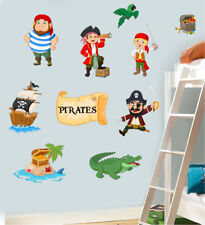 Childrens Pirates Pack Wall Art Stickers Decal Transfer Hook Jake Murals Decals