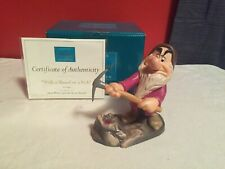 "WDCC Snow White - Grumpy ""With a Shovel or a Pick"" + Box & COA"