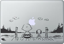 Apple MacBook Air Pro + SNOOPY PEANUTS + Aufkleber Sticker Skin Decal SUNSET