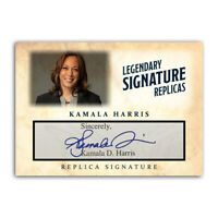 Kamala Harris Vice President Autograph Replica Historic ACEO Signature Card