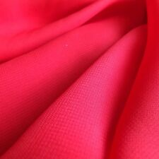 Bright Scarlet Red Chiffon Plain Woven Dress Fabric - by The Metre