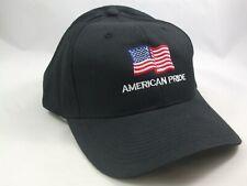 American Pride USA Flag Hat Black Snapback Baseball Cap