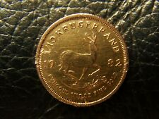 1982 Krugerrand 1/10 oz Gold Coin South African 22 ct solid gold