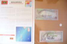 "SUPERBE BILLETS UNC + NOTICE PAYS - "" MALDIVES "" ETAT NEUF ! 6 ! (01/04/16)"