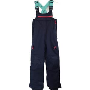 All In Motion NWT Girls' Sport Snow Bib Snowpants in Twilight Navy Medium 7/8