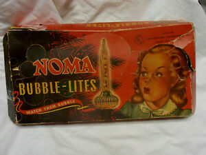 NOMA BUBBLE LIGHTS - BOXED - 7 - C 6  LIGHTS - 6 METAL ATTACHMENT PIECES