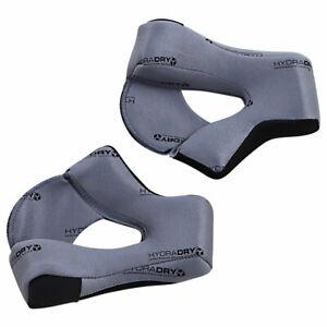 Icon Hydradry Cheek Pads Grey For Airflite Motorcycle Motorbike Helmets