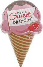 "37"" Sweet Birthday Ice Cream Cone Mylar Foil Balloon Party Decoration"