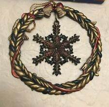New Russ Heirloom Collection Snow Flake Christmas Ornament