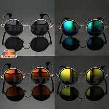 Round Metal Rim Fashion Vintage Polarized Sunglasses Glasses Retro 50s Women Men