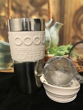 Bodum Vacuum Travel Mug S/S  / Sand (Cream) 350ml + Tea Strainer Filter Basket