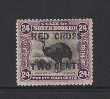 North Borneo - 1918,24c+2c Suchbegriff,Rotes Kreuz Zwei Cent Bird Stamp -M / M -