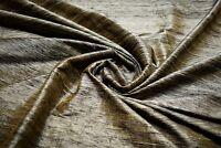 """Tan Textured Drapery 100% Silk Fabricut Shalini Quarry Fabric 54""""W FC24"""