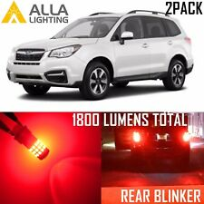 Alla Lighting LED Rear Turn Signal Light Bulbs Blinker Lamps for Subaru,1156 Red