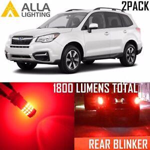 Alla Lighting LED Rear Turn Signal Light Bulbs Blinker Lamps for Subaru,1156 Red