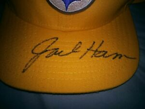 JACK HAM PITTSBURGH STEELERS SIGNED AUTOGRAPHED STEELERS GOLD HAT CAP