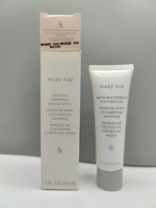 Mary Kay Medium Coverage Foundation BRONZE 500 Normal to Oily Skin 1 fl oz. New