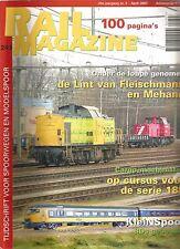 RAIL MAGAZINE N°243 DE LINT VAN FLEISCHMANN EN MEHANO / OP CURSUS VOOR SERIE 189