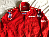 F1 PIT CREW SUIT MANOR F1 TEAM SPARCO BRANDED RACING SUIT RARE KARTING OVERALLS