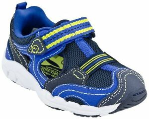 New Stride Rite Outdor Athletic Shoes Luke Blue Yellow 4.5 M