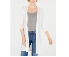 NEW NWT Charter Club Textured-Knit Open Cardigan LARGE