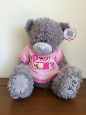 """Me To You 'I Love You Mum' Tatty Teddy Grey Bear 12"""" Sitting SMALL FAULT"""