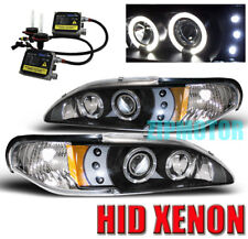 94-98 FORD MUSTANG PROJECTOR HEADLIGHTS+6000K HID BLACK
