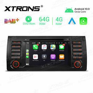 """7"""" Car DVD Stereo GPS Radio Android 10.0 Octa Core 64GB Head Unit for BMW X5 E53"""