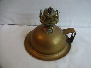 Antique Brass Chamber Oil Lamp by Valor, Birmingham