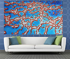 "Australia Art Painting  seascape reef Modern aboriginal 94"" x 47"" By Jane COA"