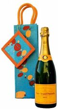 Jute Gift Bag Wine Champagne Eco-Friendly Burlap Bubble Pattern Reusable Tote