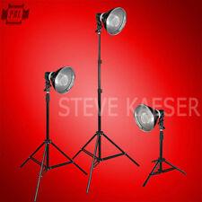 Photography Video Lighting  3 Light Kit Fluorescent Bulbs  Steve Kaeser