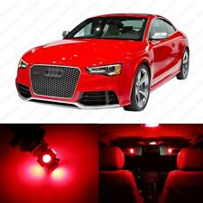 12 x Brilliant Red LED Interior Light Package For 2008 - 2013 Audi A5 S5 RS5 8T3