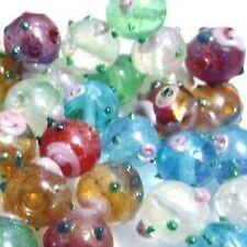 50 pièces mixtes lampwork verre perles rondes - 12mm-a4521
