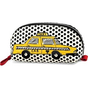 NWT Brighton CAB IT Cosmetic Bag Pouch Yellow Taxi Black White Leather MSRP $80