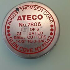 Vintage Ateco DAISY  7806 August Thomsen Corp Set 4 of 6 Cookie Cutters