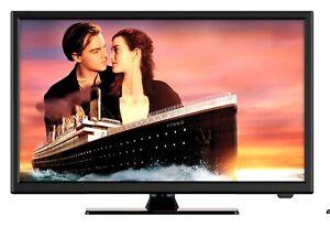 "TECO 21.5"" FULL HD LED/TV DC 12V 240V CARAVAN USB RECOR HDMI VGA FREE CAR PLUG"