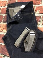 Fade Marks* Selvedge Jeans Uniqlo Kaihara Slim Straight Stretch Denim 31x32