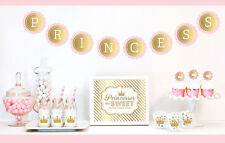 Gold And Glitter Pink Princess Party Birthday Party Decorations Kit
