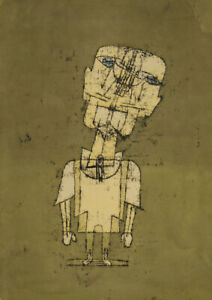 Klee - Ghost of a Genius - Large A2 size Canvas Wall Art Print Poster Unframed