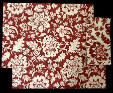NEW Pottery Barn NINA Red Floral Lot of 2 Placemats & 1 Napkin (RF852)