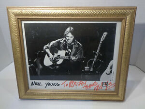 Vintage 1992 Neil Young Reprise Records Promo Photo Autographed Signed!