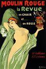 Moulin Rouge Paris Famous Cabaret Show Girl France Vintage Poster Repro FREE S/H