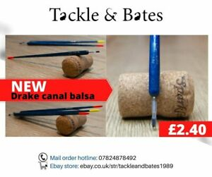 Drake Blue Balsa Canal/Drain Unloaded wagglers All sizes